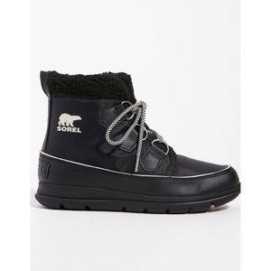 Sorel Explorer Carnival Boots in Black Sea Salt